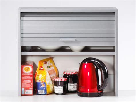 el 233 ment de rangement pour cuisine avec rideau coulissant l60cm h53 6cm cook aluminium