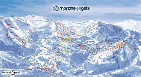 plans des pistes de ski portes du soleil morzine avoriaz plan du domaine skiable