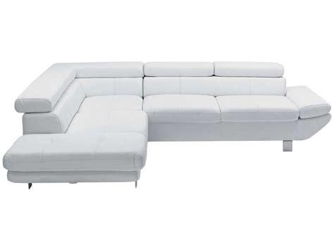 canap 233 d angle convertible gauche 5 places loft coloris blanc en pu vente de canap 233