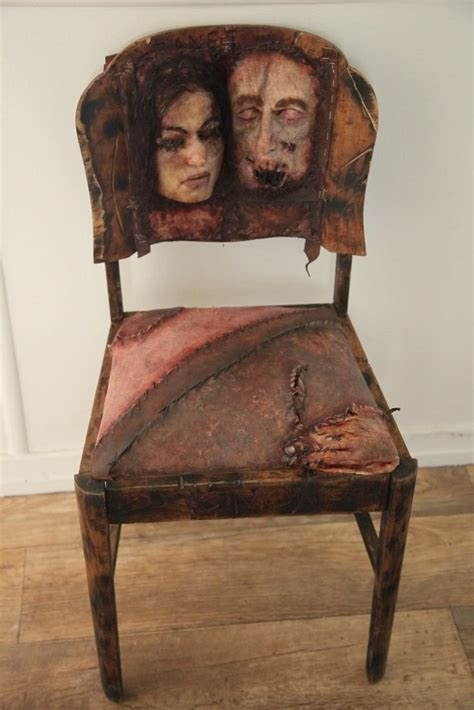 human skin covering several chair seats edward theodore gein discover more ideas