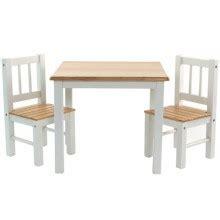 table et 2 chaises en bois niels pour enfant baby dco