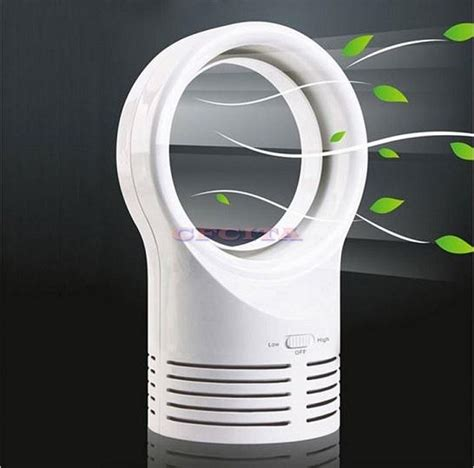 bladeless fan 6 inch mini table desk fan dc power supply work ebay