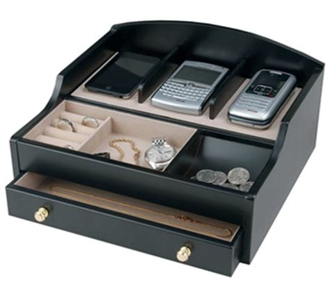 mens dresser valet charging station s black charging valet jewelry box