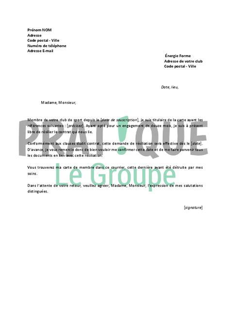 lettre de r 233 siliation 201 nergie forme pratique fr
