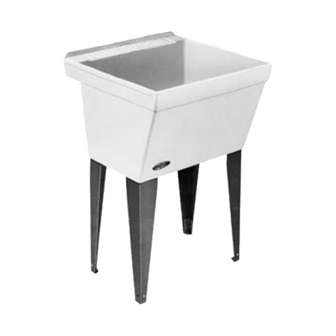 shop mustee 23 in x 23 5 in 1 basin white freestanding