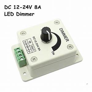 Led Dimmer Anschließen : buy free shipping dc12 24v led dimmer knob operated control led dimmer switch ~ Markanthonyermac.com Haus und Dekorationen