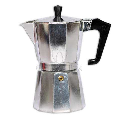 pezzetti italexpress aluminium moka pot 6 cup stove coffee pot