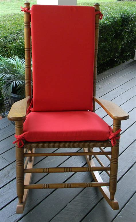 indoor outdoor solid rocking chair 2 pc foam cushion set