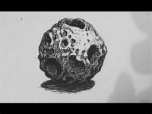 Pen and Ink Texture Challenge | How to draw an asteroid ...