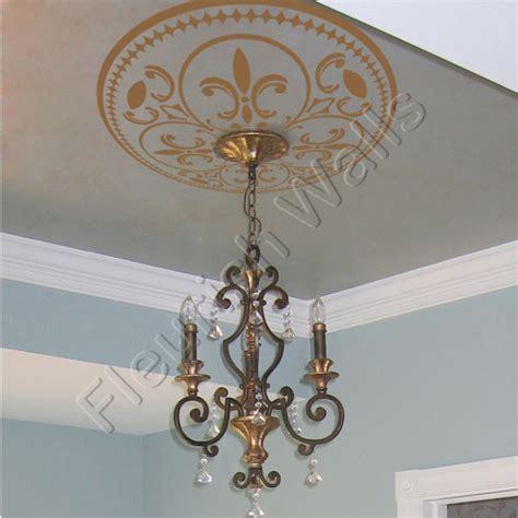 ceiling medallion vinyl ceiling decal shabby by fleurishwalls