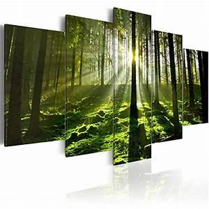 Bild 3 Teilig Auf Leinwand : murando bilder 200x100 cm leinwandbilder fertig aufgespannt vlies leinwand 5 teilig ~ Markanthonyermac.com Haus und Dekorationen
