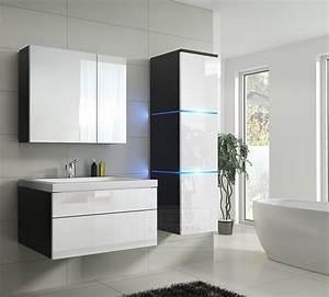 Led Beleuchtung Badezimmer : kaufexpert badm bel set lux 1 new wei hochglanz schwarz keramik waschbecken badezimmer led ~ Markanthonyermac.com Haus und Dekorationen