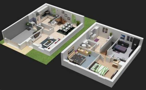 modele maison contemporaine 6 plan maison 3d avec etage plan 3d 233 tages maison 22206 decor