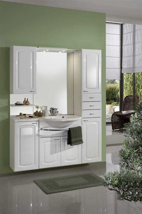 meuble de salle de bain contemporain avec vasque et miroir blanc zola ensemble de salle de