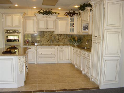 Antique White Kitchen Cabinets For Terrific Kitchen Design