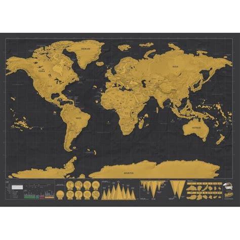 carte du monde 224 gratter luxe cadeau maestro