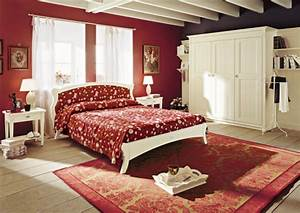 English Country Style Bedroom Furniture Red Wall Decor ...