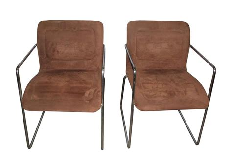 Set Of Mid Century Modern Tubular Chrome Chairs 1 Bedroom Apartments In Chattanooga Tn Teak Set Used King Sets For Sale Oriental Chairs Efficiency Quilts Loungers