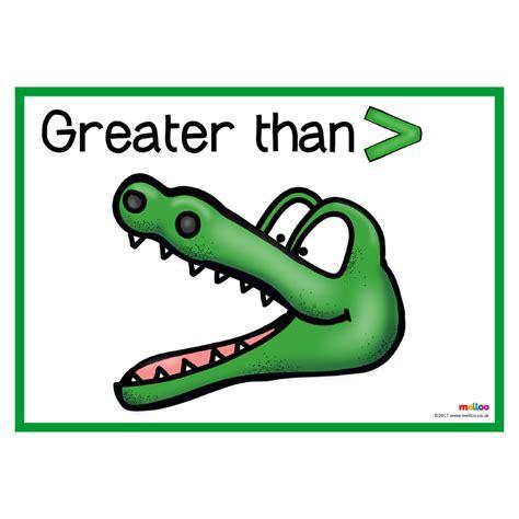 Greater Than, Less Than  Crocodiles  Maths  Ks1, Ks2