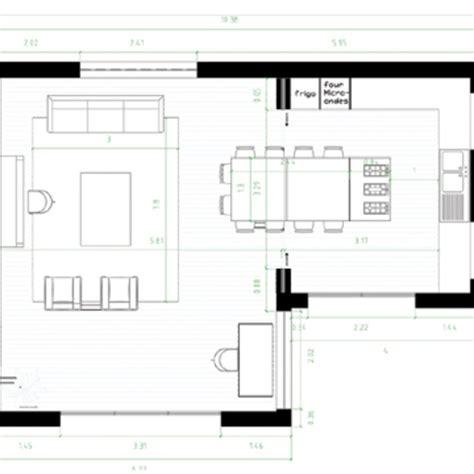 plan cuisine ouverte salle manger sedgu
