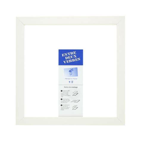 cadre entre deux verres blanc mat aed chez rougier pl 233