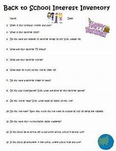 FREE! Back to School- Student Information Sheet (K,1,2,3,4 ...