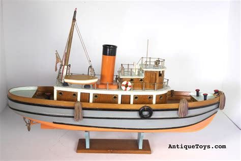 Old Wooden Tug Boats For Sale by Japanese Wooden Tug Boat Toy Antique Toys For Sale