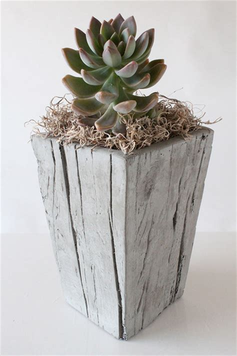 cast wood planter small contemporary indoor pots and planters other metro by nativecast