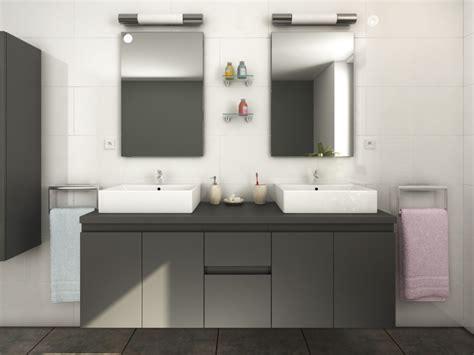 meubles de salle de bain lavita ii suspendus avec vasque et miroirs plusieurs coloris