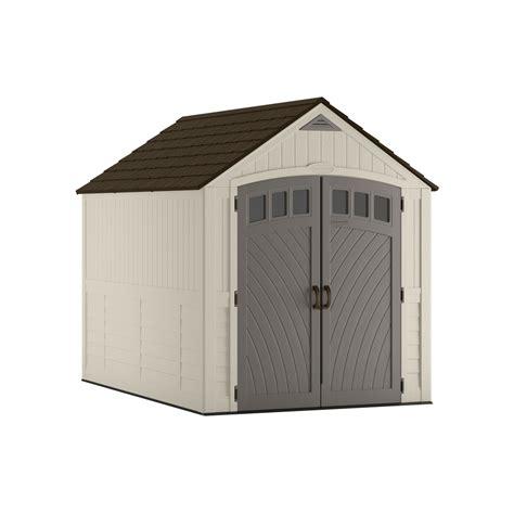 shop suncast covington gable storage shed common 7 ft x
