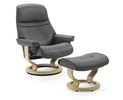 stressless by ekornes stressless recliners medium reclining chair and ottoman dunk