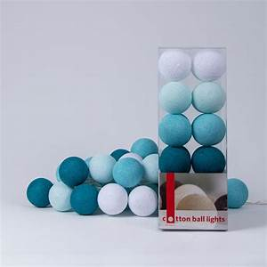 Lichterkette Cotton Balls : aqua lichterkette von cotton ball lights ~ Markanthonyermac.com Haus und Dekorationen