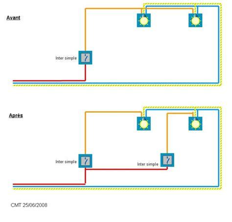 schema installation 233 lectrique branchement phase interrupteur alimenter seconde le