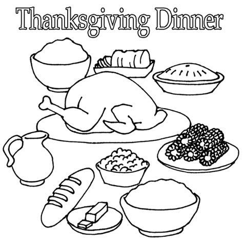 Thanksgivng Dinner Pages Template by Thanksgiving Dinner Coloring Pages Printables Happy