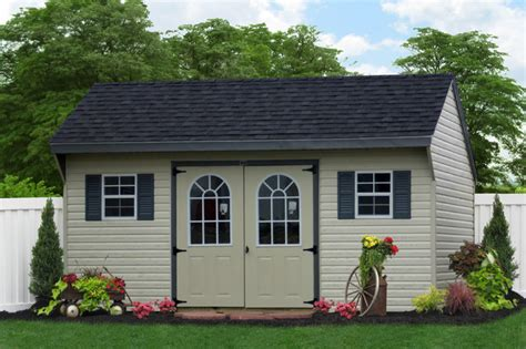 amish sheds island 10x16 amish vinyl shed for island traditional