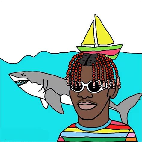 Lil Boat Cartoon by Chief Keef Stickers Redbubble
