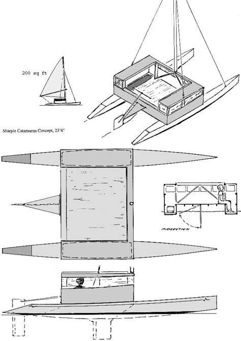 Catamaran Trawler Plans by Benadi Boat Plans Multihull Info