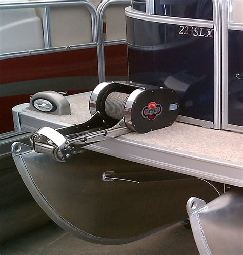 Inflatable Pontoon Boat Anchor System by Quick Ptr 350 Pontoon Windlass With Stainless Steel Bow