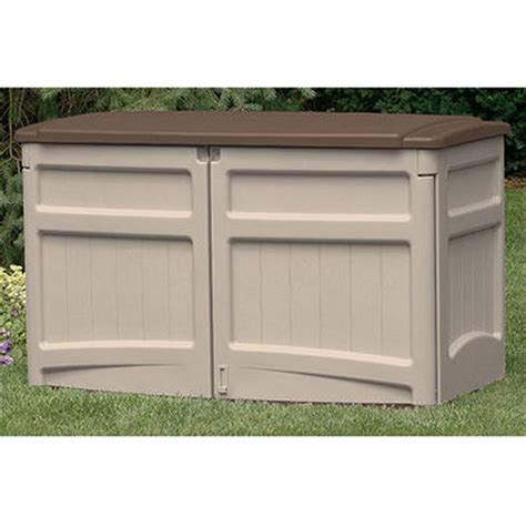 suncast 174 horizontal storage shed 138480 patio storage