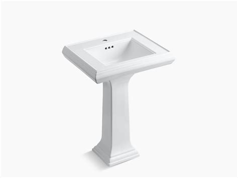 memoirs pedestal lavatory with classic design and single