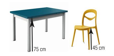 hauteur table a manger standard evtod