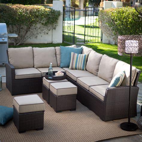 belham living monticello all weather outdoor wicker sofa