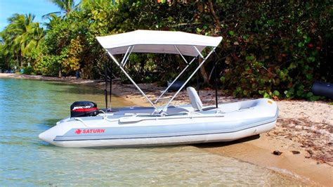 Inflatable Boat With Motor by Saturn Sd410 Inflatable Boat With 15hp Outboard Motor