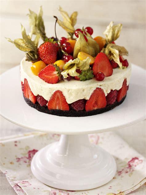 fruit gateaux lemon tart pavlova strawberry cake top summer desserts photo 1