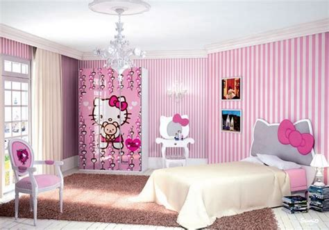 Girls Bedroom : 20 Cutest Hello Kitty Girls Bedroom Designs And Decorations