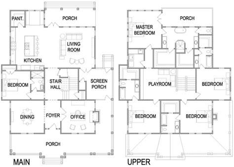 four square house plans craftsman foursquare house plans