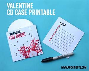 Valentine CD Case Free Printable - Rockin' Boys Club