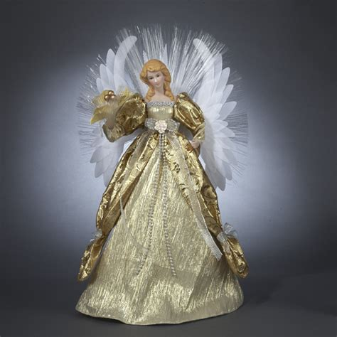 Fibre Optic Christmas Trees Ebay by Seasons Of Elegance Deluxe Gold Lighted Fiber Optic Angel