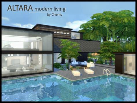 mod the sims inspiration living modern sims 4 altara modern living