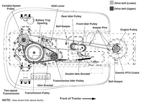 troy bilt lawn mower belt diagram get free image